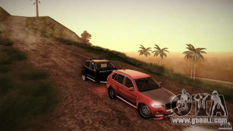 BMW X5 with Wagon BEAM Tuning for GTA San Andreas back view