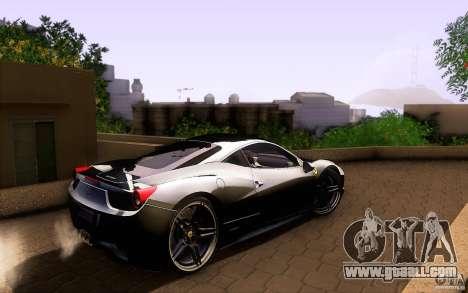 Ferrari 458 Italia Final for GTA San Andreas