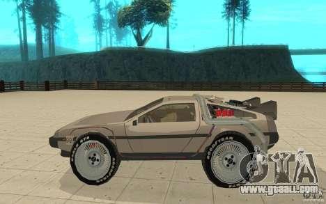DeLorean DMC-12 (BTTF1) for GTA San Andreas left view