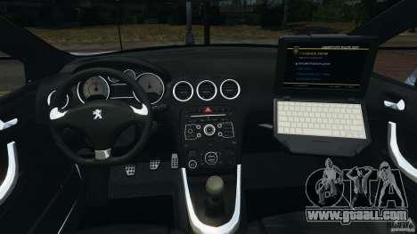 Peugeot 308 GTi 2011 Police v1.1 for GTA 4 back view