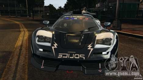 McLaren F1 ELITE Police [ELS] for GTA 4 side view