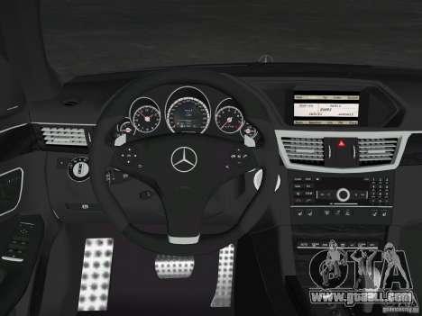 Mercedes-Benz E63 AMG for GTA Vice City engine