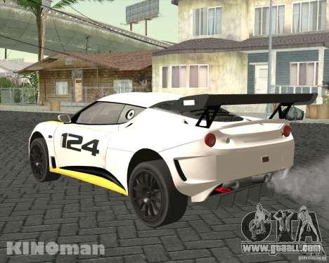 Lotus Evora Type 124 for GTA San Andreas left view
