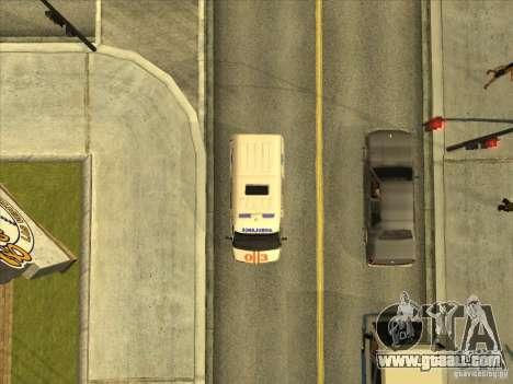 GAS 22172 ambulance for GTA San Andreas back view
