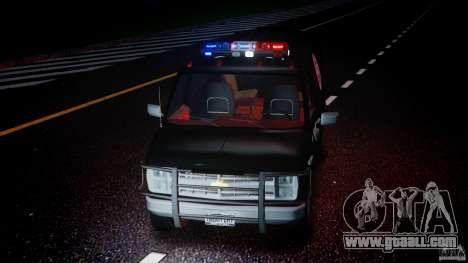 Chevrolet G20 Police Van [ELS] for GTA 4 side view