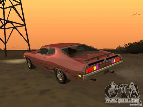 Ford Torino Cobra 1970 Tunable for GTA San Andreas back left view