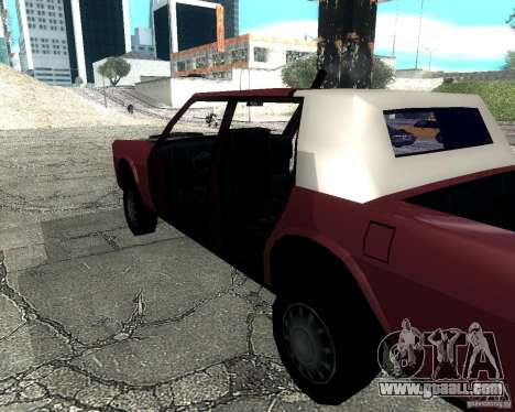 Derby Greenwood Killer for GTA San Andreas back left view