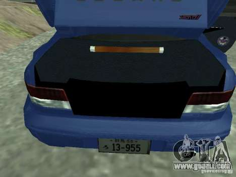 Subaru Impreza 22B STI for GTA San Andreas back view