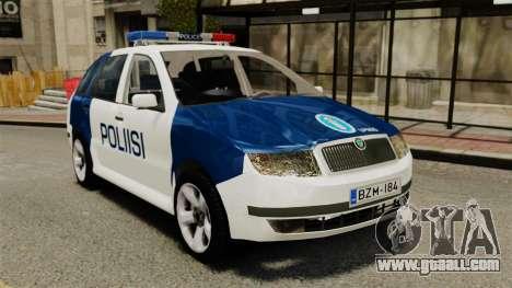 Skoda Fabia Combi Finnish Police ELS for GTA 4