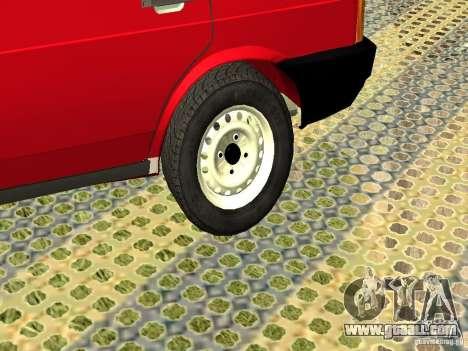 VAZ 2109 v2 for GTA San Andreas back view