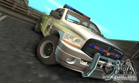 Dodge Ram 1500 POLICE 2008 for GTA San Andreas left view