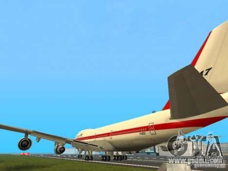 Boeing 747-100 for GTA San Andreas back left view