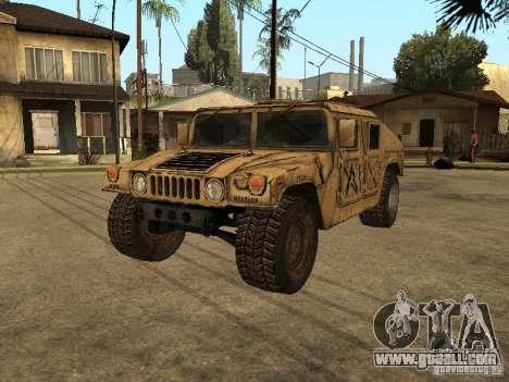 War Hummer H1 for GTA San Andreas