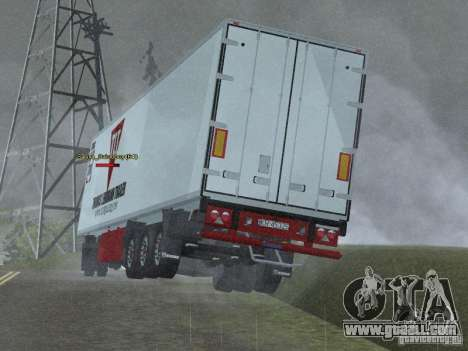 Refrigerator trailer for GTA San Andreas back left view