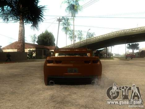 Chevrolet Camaro SS Dark Custom Tuning for GTA San Andreas back left view