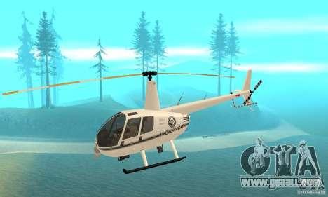 Robinson R44 Raven II NC 1.0 White for GTA San Andreas