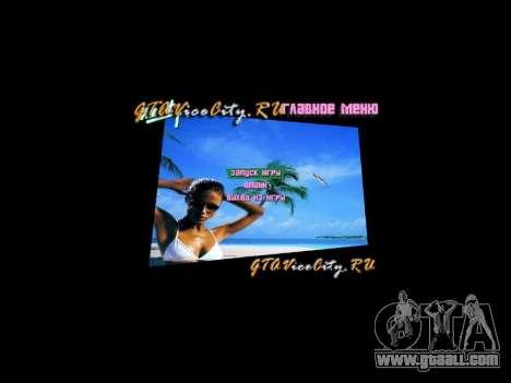 Menu background Spiaggia for GTA Vice City third screenshot