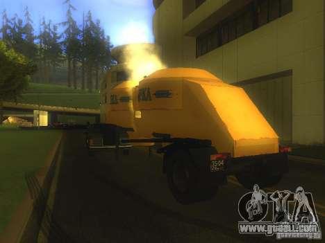 Mukovoz K4-AMG trailer for GTA San Andreas back left view