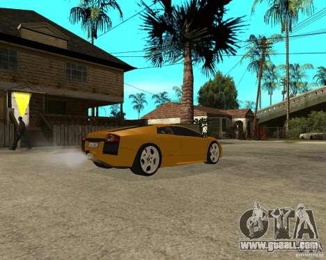 Lamborghini Murcielago for GTA San Andreas back left view