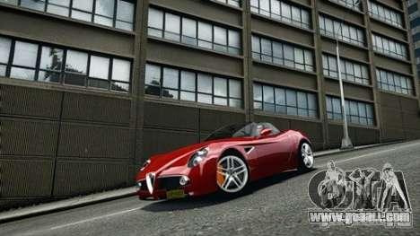 Alfa Romeo 8C Spyder for GTA 4 right view