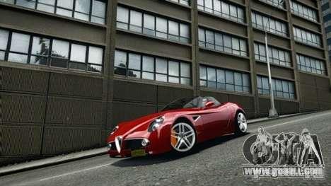 Alfa Romeo 8C Spyder for GTA 4 right view