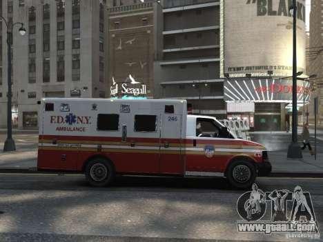 Chevrolet Ambulance FDNY v1.3 for GTA 4 right view
