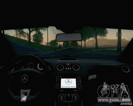 Mercedes-Benz SL65 AMG Black Series for GTA San Andreas interior