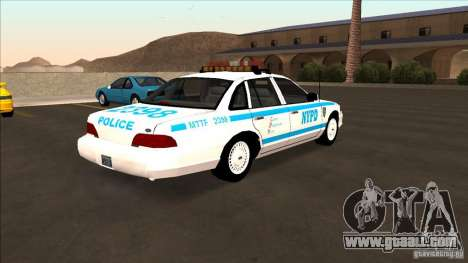 Ford Crown Victoria 1992 NYPD for GTA San Andreas back left view