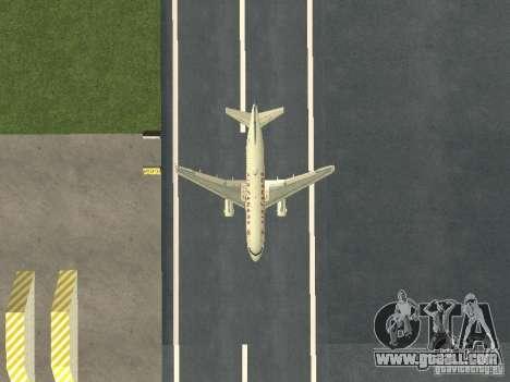 Airbus A319 Air Canada for GTA San Andreas inner view