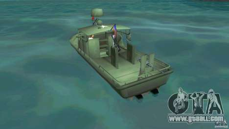 Patrol Boat River Mark 2 (Player_At_Wheel) for GTA Vice City back left view