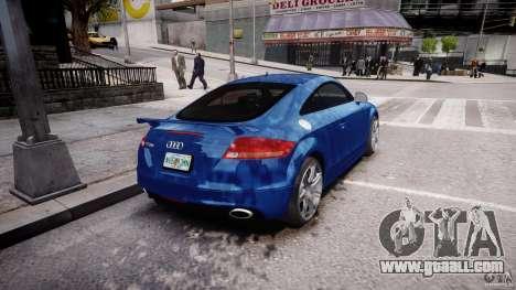 Audi TT RS Coupe v1 for GTA 4 back left view