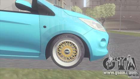 Ford Ka Stance Perry Edtion for GTA San Andreas back left view