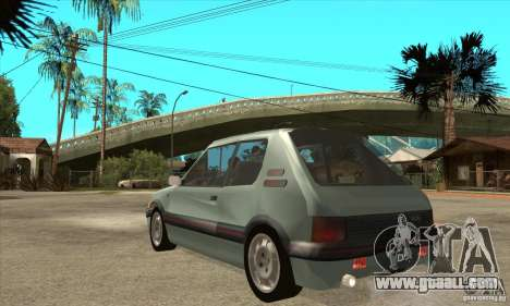Peugeot 205 GTI v2 for GTA San Andreas back left view