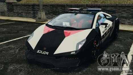 Lamborghini Sesto Elemento 2011 Police v1.0 ELS for GTA 4 left view