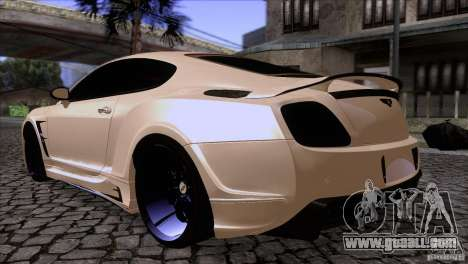 Bentley Continental GT Premier 2008 V2.0 for GTA San Andreas back view