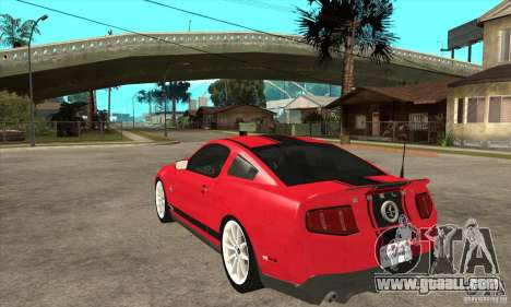 Ford Shelby GT500 Supersnake 2010 for GTA San Andreas back left view
