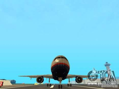 McDonell Douglas DC10 United Airlines for GTA San Andreas back view
