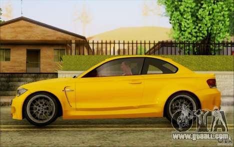 BMW 1M Coupe for GTA San Andreas back left view