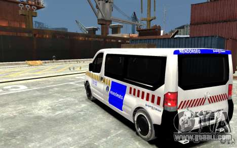 Opel Vivaro Hungarian Police Van for GTA 4 back left view