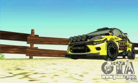 Ford Fiesta Rockstar Energy for GTA San Andreas right view