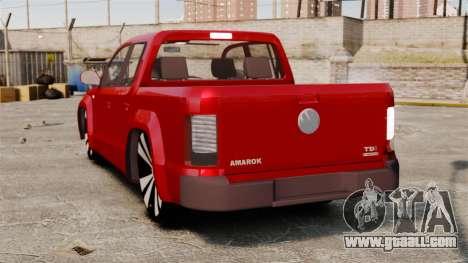 Volkswagen Amarok 2.0 TDi AWD Trendline 2012 for GTA 4 back left view