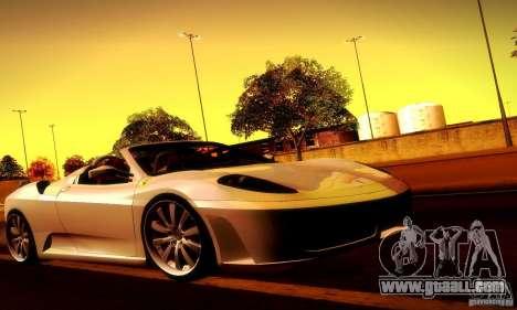 Ferrari F430 Spider for GTA San Andreas interior