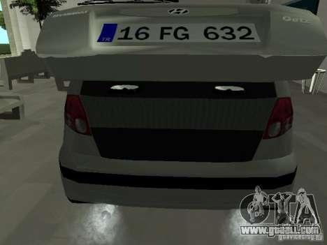 Hyundai Getz for GTA San Andreas side view