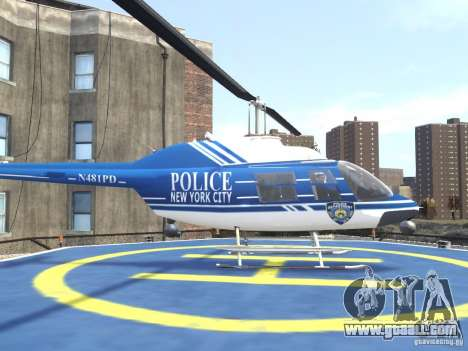 Bell 206 B - NYPD for GTA 4 left view