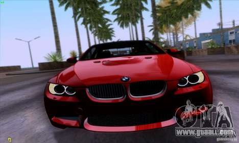 BMW M3 E92 v1.0 for GTA San Andreas back left view