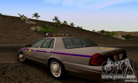 Ford Crown Victoria Mississippi Police for GTA San Andreas left view