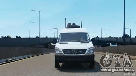 Mercedes-Benz Sprinter-Identification Criminelle for GTA 4 inner view