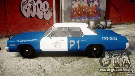 Dodge Monaco 1974 (bluesmobile) for GTA 4 left view