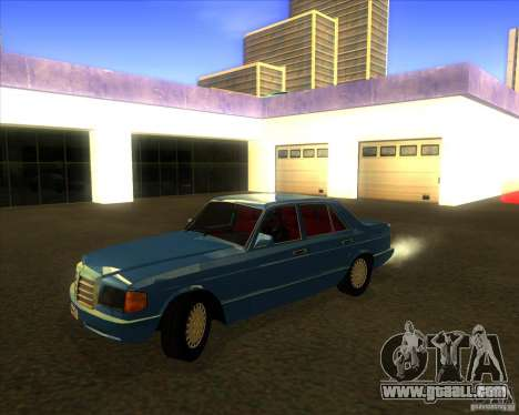 Mercedes-Benz 500SE 1985 for GTA San Andreas inner view