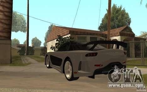 Mazda RX 7 VeilSide Fortune v.2.0 for GTA San Andreas back left view